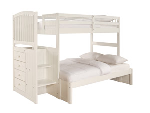 Angeline Twin/Full Girls Bunk Bed Angeline Twin/Full Girls Bunk Bed