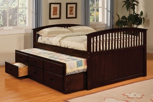 "Sydney Boys Captains Storage Bed Twin w/ Trundle: 80"" L x 44.5"" W x 39"" H  Full w/ Trundle: 80"" L x 59.5"" W x 39"" H  Nightstand: 18"" W x 15"" D x 22.5"" H  Dresser: 54"" W x 16.25"" D x 31"" H  Chest: 30"" W x 17"" D x 43.5"" H  Mirror: 35"" W x 37"" H x 1."