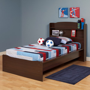 "Boys Brooklyn Platform Bed The Brooklyn Platform Bed brings a simple, modern style that is easy to love and hard to get bored of.Bed: 47.75""W x 44.5""H x 81""D Underbed Openings: 23.75""W x 6.5""H x 39""D"