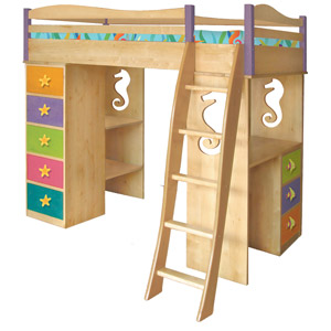 Enchanted Ocean Girls Loft Bed Its a loft bed, bunk bed, desk, dresser and so much more!