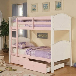 Pretty in Pink Bunk Bed Few bunk beds make little girls happier than our Pretty in Pink Convertible Bunk Bed.