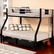 Go Mod Twin/Full Bunk Bed The Go Mod Twin/Full Bunk Bed makes stylish, modern space saving affordable!