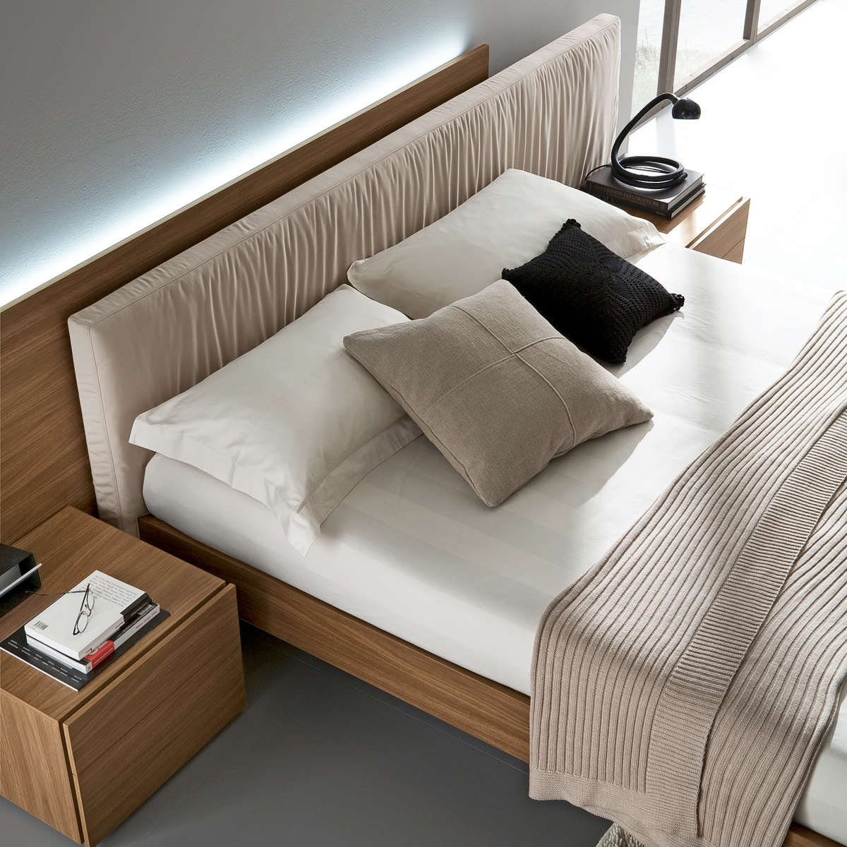 aniston platform bed modern floating style design elegant online