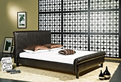 Lucca Leather Platform Bed Lucca Leather Platform Bed