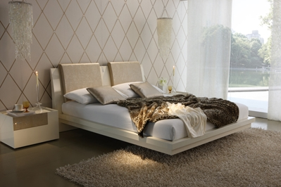 Ivory Luxe Modern Platform Bed Ivory Luxe Modern Platform Bed