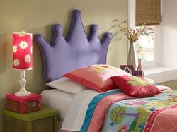 Majesty Twin Platform Bed Give your child the royal treatment with the Majesty Twin Platform Bed. The highly decorative headboard comes fully upholstered in a regal purple that is sure to make your child feel like royalty.