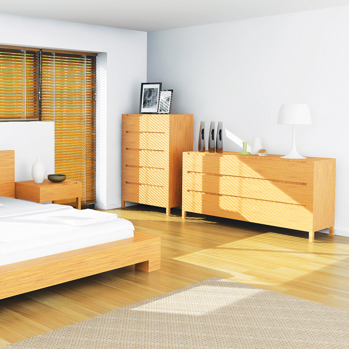 Enviro Bamboo 6 Drawer Dresser The Enviro Bamboo 6 Drawer dresser offers modern style with sustainable furniture construction.  A luxurious yet simple dresser with 6 easy glide drawers and notched drawer pulls. Coordinates with the Enviro Platform Bed.