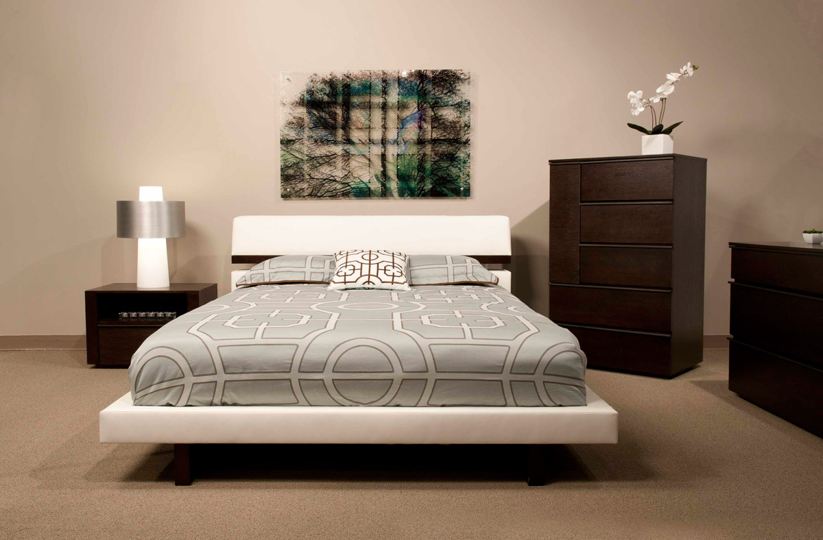hera platform bed modern floating design style bedroom elegant