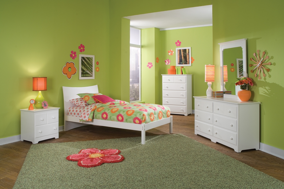 Knightley Bedroom Set - Mattress Included - PBO891WH