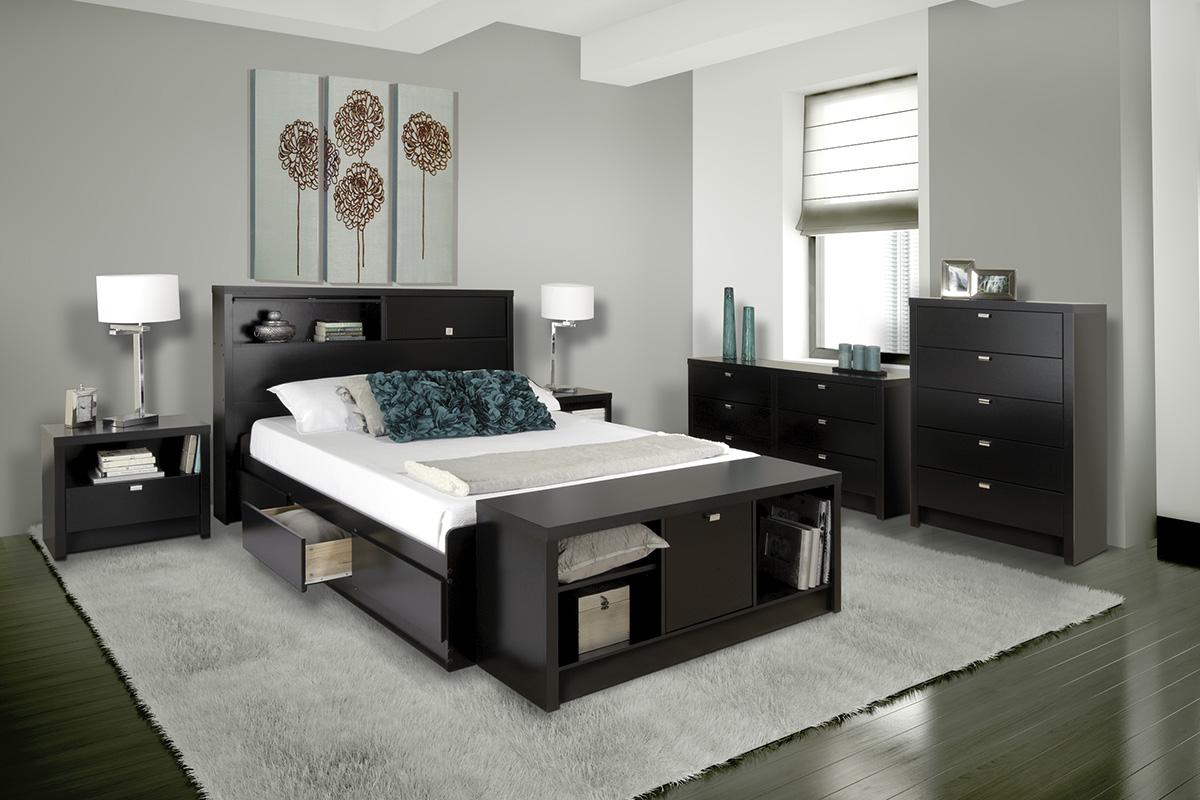 Series 9 Storage Platform Bed Black