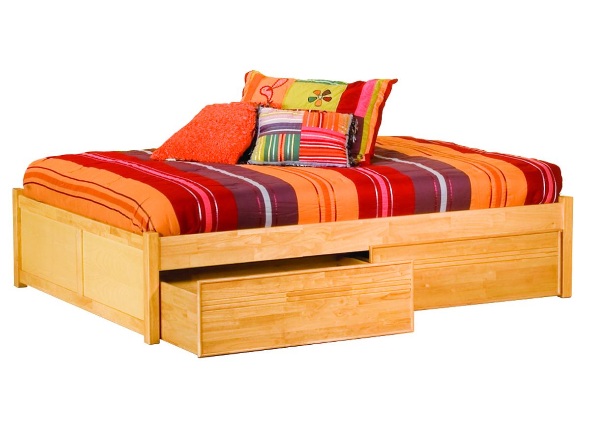 Concord Platform Bed Flat Panel Footboard