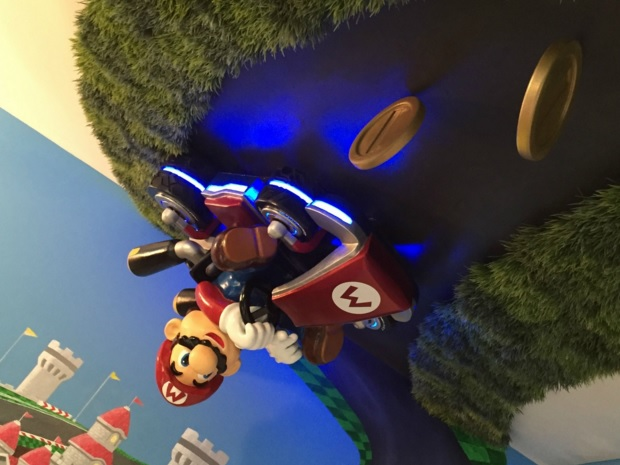 A better look at Mario in this themed kids nursery