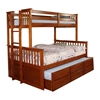 University Twin/Full Bunk Bed - Oak CMBK458FA University Twin/Full Bunk Bed - Oak CMBK458FA