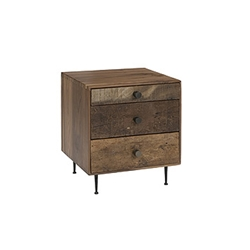 Alex Nightstand With blends of exotic demolition hardwoods, white oak, and black walnut, you wont find a more sturdy and long-lasting nightstand like our Alex Nightstand.