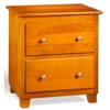 Atlantic 2-Drawer Nightstand - Caramel Latte C-68207 Atlantic 2-Drawer Nightstand - Caramel Latte C-68207