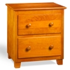 Atlantic 2-Drawer Nightstand - Caramel Latte C-68207 - C-68207