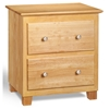 Atlantic 2-Drawer Nightstand - Natural C-68205 Atlantic 2-Drawer Nightstand - Natural C-68205