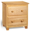 Atlantic 2-Drawer Nightstand - Natural C-68205 - C-68205