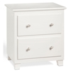 Atlantic 2-Drawer Nightstand - White C-68202 Atlantic 2-Drawer Nightstand - White C-68202