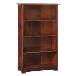 "Atlantic 55"" Bookcase - Antique Walnut C-69304 Atlantic 55"" Bookcase - Antique Walnut C-69304"