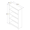 "Atlantic 55"" Bookcase - Espresso C-69301 - C-69301"