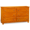 Atlantic 6-Drawer Dresser - Caramel Latte C-68657 Atlantic 6-Drawer Dresser - Caramel Latte C-68657