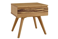 Azara Night Stand - Caramel & Sable Finish azara, night, stand, collection, greenington, modern, bedroom, solid, wood, bamboo