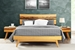 Azara Platform Bed Caramelized Finish - GA0001CA
