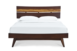 Azara Platform Bed Sable Finish