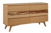 Azara Six Drawer Dresser - Caramel & Sable Finish azara, night, stand, collection, greenington, modern, bedroom, solid, wood, bamboo