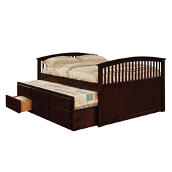 Bella Captains Bed - Dark Walnut CM7035CH Bella Captains Bed - Dark Walnut CM7035CH