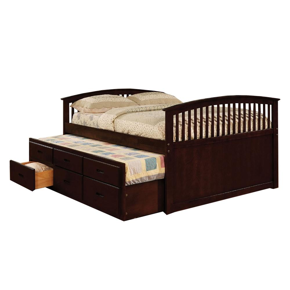 bella captains bed dark walnut cm7035ch bella captains bed dark walnut cm7035ch