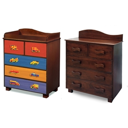 Boys Like Trucks 5-Drawer Chest - Chocolate RM15-BTD Boys Like Trucks 5-Drawer Chest - Chocolate RM15-BTD