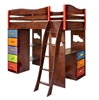 Boys Like Trucks Loft Bed - Chocolate RM78-BTD Boys Like Trucks Loft Bed - Chocolate RM78-BTD