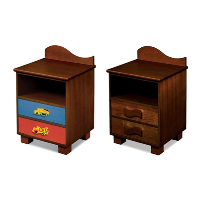 Boys Like Trucks 2-Drawer Nightstand - Chocolate RM01-BTD Boys Like Trucks 2-Drawer Nightstand - Chocolate RM01-BTD