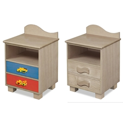 Boys Like Trucks 2-Drawer Nightstand - Grey RM01-BTG Boys Like Trucks 2-Drawer Nightstand - Grey RM01-BTG