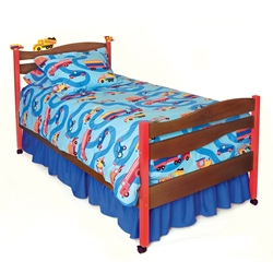 Boys Like Trucks Platform Bed - Chocolate RM39-BTD Boys Like Trucks Platform Bed - Chocolate RM39-BTD