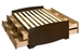 Captain's Storage Platform Bed - Espresso - EBQ-6212-K