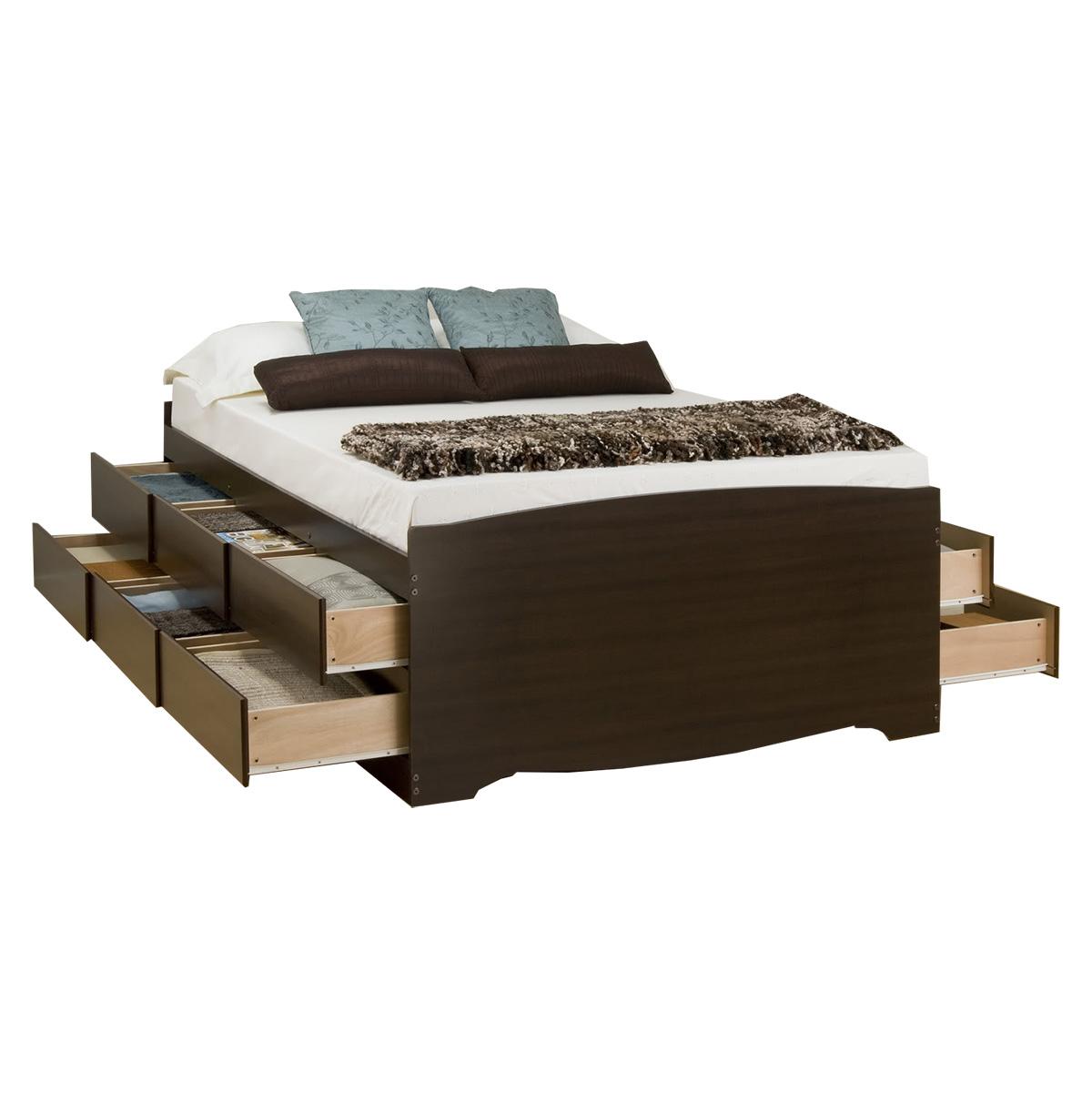 Captains Storage Platform Bed   Espresso Captains Storage Platform Bed    Espresso