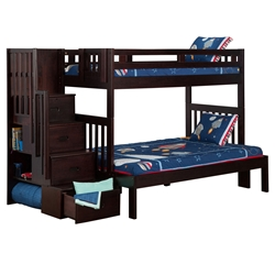 Cascade Twin/Full Staircase Bunk Bed AB63701 Cascade Twin/Full Staircase Bunk Bed AB63701