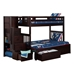 Cascade Twin/Full Staircase Bunk Bed AB63701 - AB63701