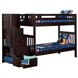Cascade Twin/Twin Staircase Bunk Bed AB63601 Cascade Twin/Twin Staircase Bunk Bed AB63601