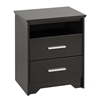 Coal Harbor 2-Drawer Tall Nightstand - Black BCH-2250 Coal Harbor 2-Drawer Tall Nightstand - Black BCH-2250