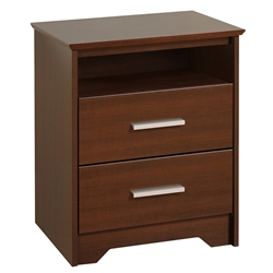 Coal Harbor 2-Drawer Tall Nightstand - Espresso ECH-2250 Coal Harbor 2-Drawer Tall Nightstand - Espresso ECH-2250