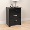 Coal Harbor 3-Drawer Tall Nightstand - Black BCH-2027 - BCH-2027