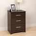 Coal Harbor 3-Drawer Tall Nightstand - Espresso ECH-2027 - ECH-2027