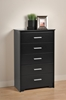 Coal Harbor 5-Drawer Chest - Black BCH-5500-K - BCH-5500-K