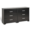 Coal Harbor 6-Drawer Dresser - Black BCH-6600-K Coal Harbor 6-Drawer Dresser - Black BCH-6600-K