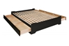 Coal Harbor Storage Platform Bed - Black - BSH-6000 + BB-5600/6200