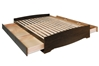 Coal Harbor Storage Platform Bed - Espresso - ESH-6000 + EB-5600/6200-clone1